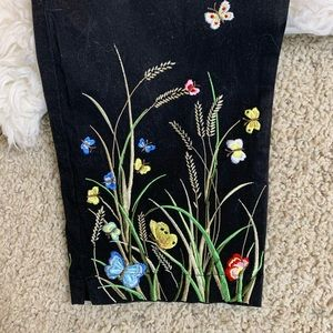 Talbots Pants & Jumpsuits - [Talbots] High Waisted Embroidered Pants